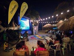 Festival Cine Libre Internacional, realizado en Necoclí, Playa Bonita, Zion Beach Bar! Julio 2019.