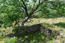 Roman wall at Dinas Emrys