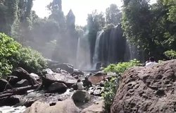 The best waterfall at Phnom Kulen waterfall mountain in siem reap.