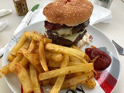 Best burger and home made chips in town!!