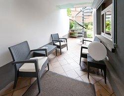 Terrasse privée avec accès direct au jardin