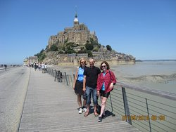 Sylvia, Bruno, & Ricki at Mont St. Michel!