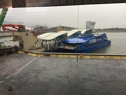 Cotai Water Jet about at the Taipa Ferry Terminal