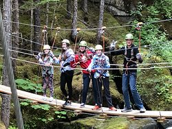 Fantastic day zip lining through the trees!!!