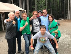 Parents, Kyle, The Family, Meg: SUCCESS!!! Grizzly Falls Ziplining Expedition was a complete blast! Trust me...you want to do this.