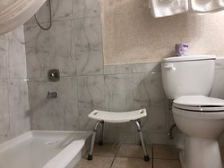 walk in shower, accessible room