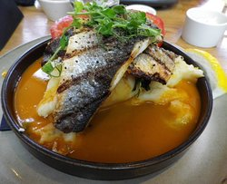 Chargrilled Seabass in Lobster bisque - Main