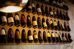 Wide wine selection.