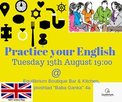 An evening when you can practice your English with other English speakers in a relaxed atmosphere.