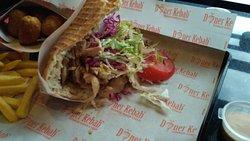 Kebab alemán, la masa estaba impresionante