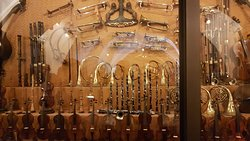 Musical instruments in the museum