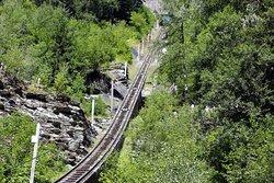 funicular rails, gradient max 87%