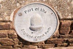 Dit pad is onderdeel van het Engeland Coast Path.