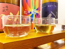 There is a special drink menu which you can compare local sake.