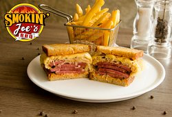 Corned Beef Reuben Sandwich, 4 thick slices of Australian Angus Corned Beef topped with Sauerkraut, melted Swiss Cheese & Russian dressing served on Rye Bread with French Fries on the side is now available on our Breakfast Menu.
