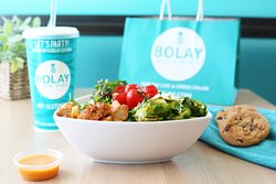 Our flavors are 100% Gluten-free! Build your own bol choosing from freshly prepared bases, roasted veggies, and perfectly cooked proteins. Each of our menu items are seasoned with signature spice blends and roasted with care. Bolay all day! Order online now at www.bolay.com