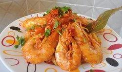 Spaghetti Crevettes Royales