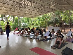Our teacher training students start teaching from second or third day of the course, starting with 5 mins flow. By the end of the course they start teaching 30-minutes flow.