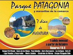 PAQUETE PARQUE PATAGONIA y maravillas de la Comarca 7 días / 6 noches Salidas 1 vez por mes DESDE COMODORO RIVADAVIA desde Paquete con TODO INCLUIDO (Comidas, Transporte privado con guía en todas las excursiones, viandas, coordinación permanente, seguros).  7 DÍAS  -   7 EXCURSIONES DE PRIMER NIVEL (Bosque Petrificado + Cueva de las Manos + Alero Charcamata + Catedrales de Mármol + Parque Patagonia + Lago Posadas + Ruta 41 / Lago Buenos Aires.2 Parques Nacionales en argentina y Chile.