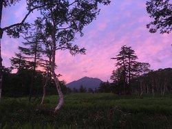 夕焼けの燧ヶ岳