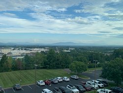 Although it was early in the am, you can still see the Blue Ridge Mts. in the distance.