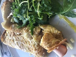 Turkey Omelette - 50 minutes to cook! Good thing about this dish is it is cheap! 5 Euros!