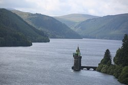 The view of Lake Vyrnwy from our room