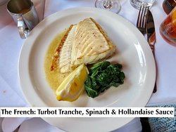 Turbot Tranche, Spinch & Hollandaise Sauce