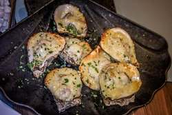 gluten free NOLA Styled roasted oysters