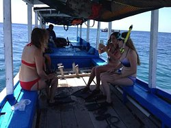 Boat going to menjangan island