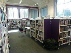 The bookshelves