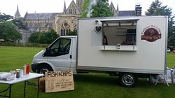 Evening Wedding Catering in Cathedral Grounds