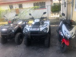 Atv for rent and scooter