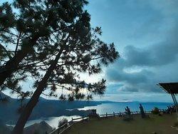 Catching the sunrise at Lake Toba