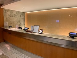 Reception desk - only one person was working at the late night hours