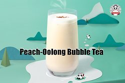 Bubble Tea with Fresch Milk,White Peach-Oolong Tea and Brown Sugar Tapioca.