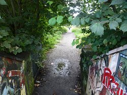 path to the shops of Thatto Heath