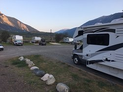 Campground with view on mountains