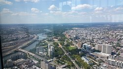 View of Philadelphia from Jean-Georges Philadelphia on the 59th floor of the Comcast Technology Center.