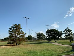 Baseball area in the middle of the park.