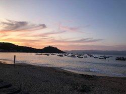 photo prise au coucher du soleil depuis le restaurant