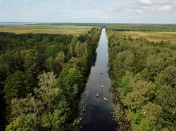 Canoeing over the King Wilhelm canal (Klaipeda, Lithuania)