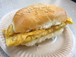 Steam Bun with egg and pork RM3