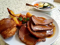 Sunday lunch with beef at The Grapevine, simply delicious.