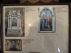 Foto della didascalia alle opere della Cappella dei Santi E &.F