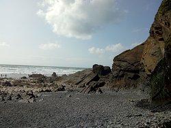 Cliffs at Sandymouth Beach.