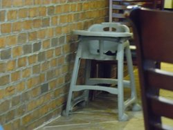 High chairs kept in clean area