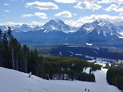 From Lake Louise ski hill. Stunning views everywhere I looked. I had to stop often just to soak it all in!!!