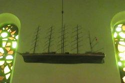 Kirkeskibet. Model af skoleskibet København