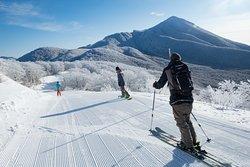 アルツ磐梯最奥エリアは霧氷の絶景が広がる。